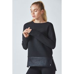 Fabletics Bre Quilted Step Hem Pullover Sweatshirt